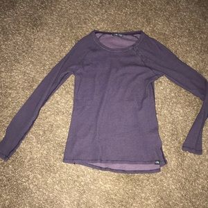 The North Face women's knit purple medium top